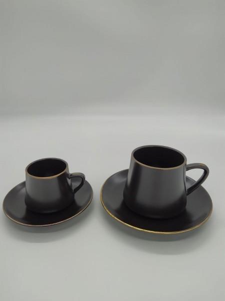 Zellerfeld Mokka- Kaffee Set Schwarz