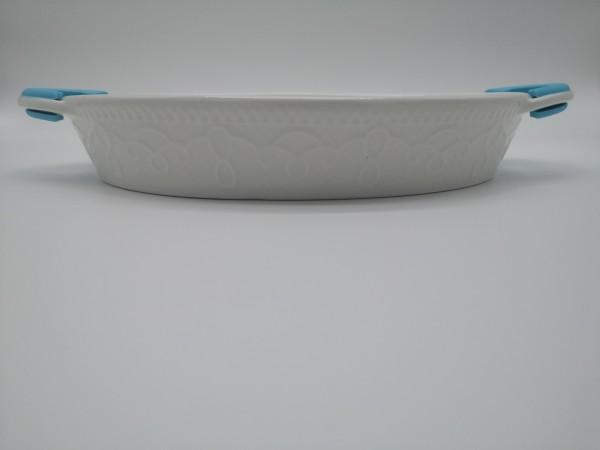 Oval Auflaufform mit Silikongriffen